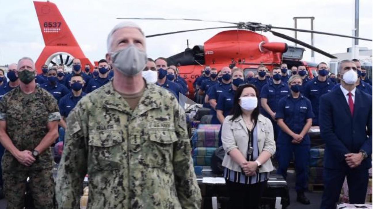 Coast Guard Cutter James offloads approximately 30,000 pounds of cocaine, marijuana at Port Everglades