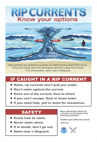 Coast Guard urges beachgoers, swimmers to exercise caution during hurricane season