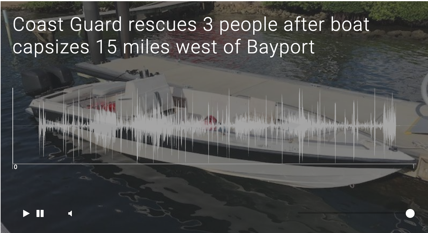 Coast Guard rescues 3 people after boat capsizes 15 miles west of Bayport
