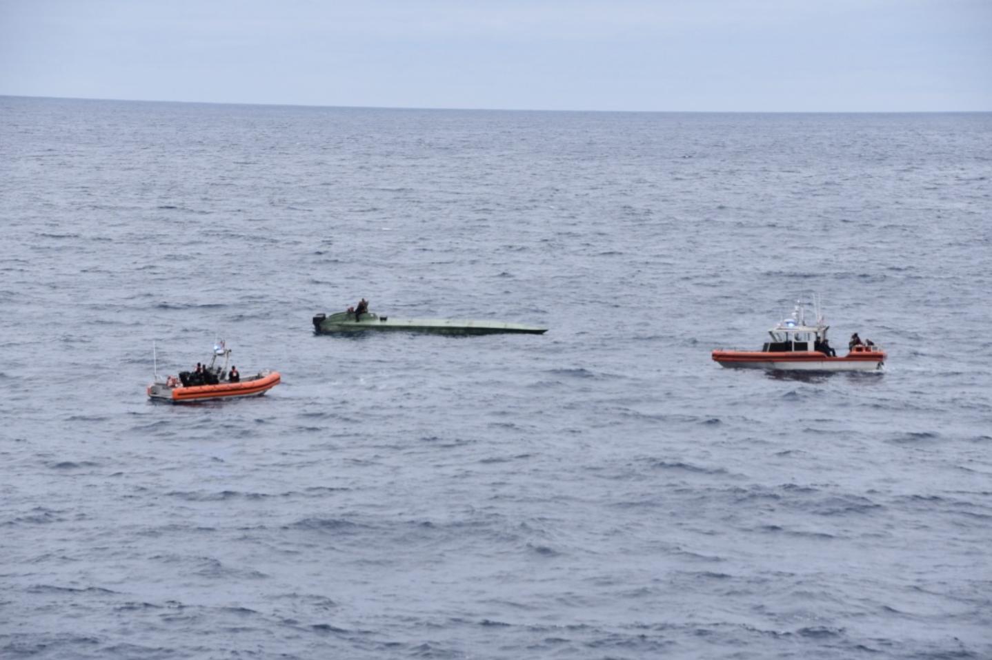 Coast Guard intercepts semi-submersible vessel