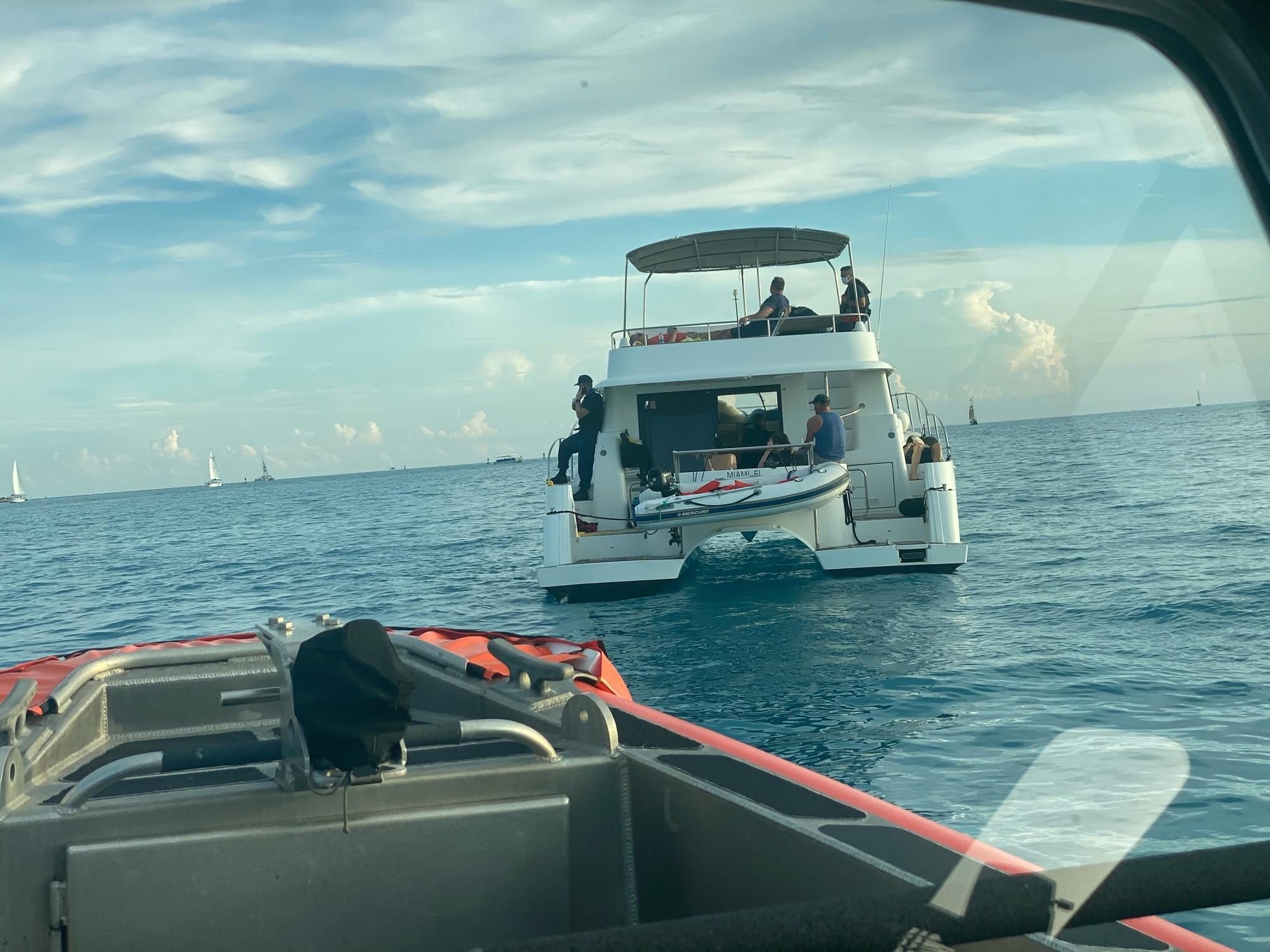 Coast Guard halts illegal charter near Sunset Key