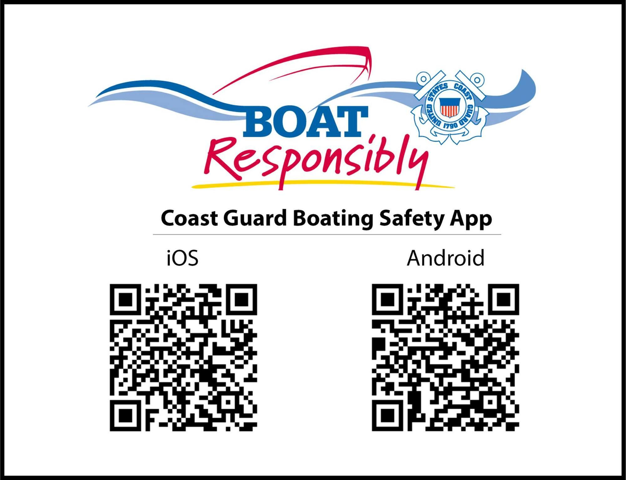 Boating Safety App QR codes