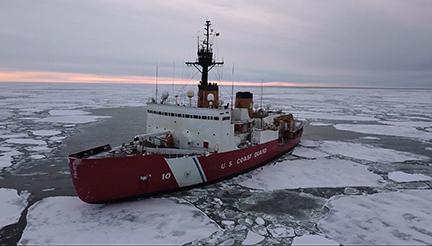 U.S. Coast Guard Cutter Polar Star in the Arctic (Dec. 30, 2020)