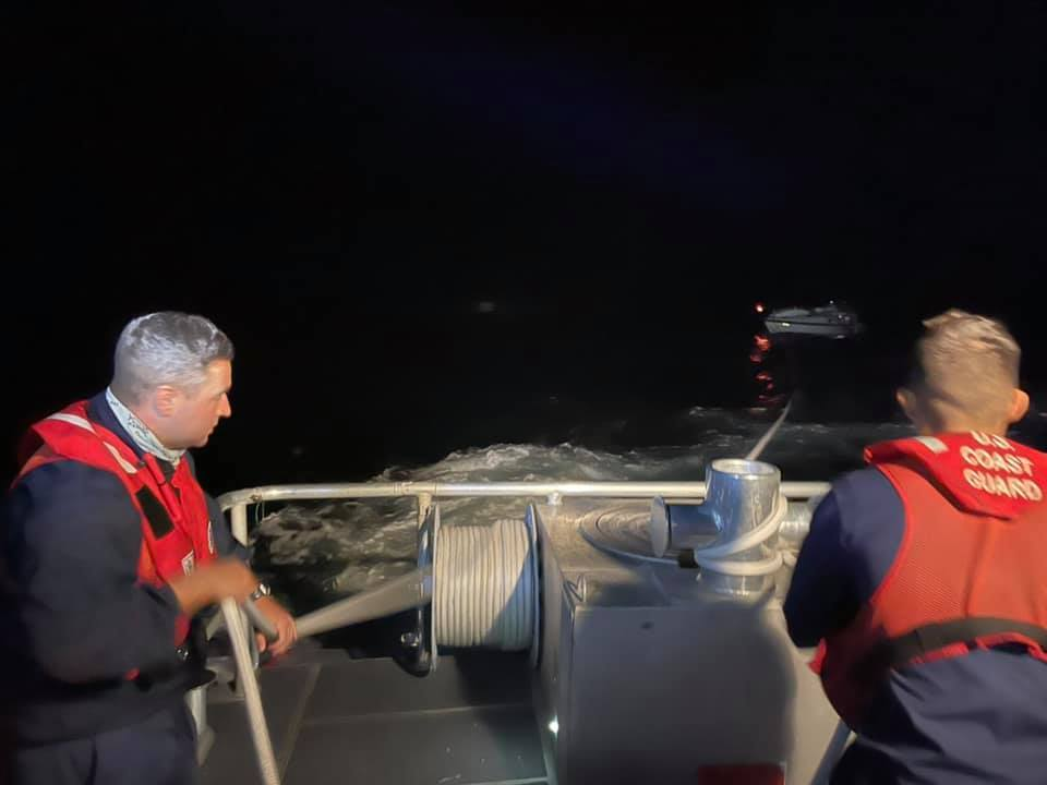 Coast Guard rescues 2 aboard disabled sailing vessel 60 miles northwest of Marathon