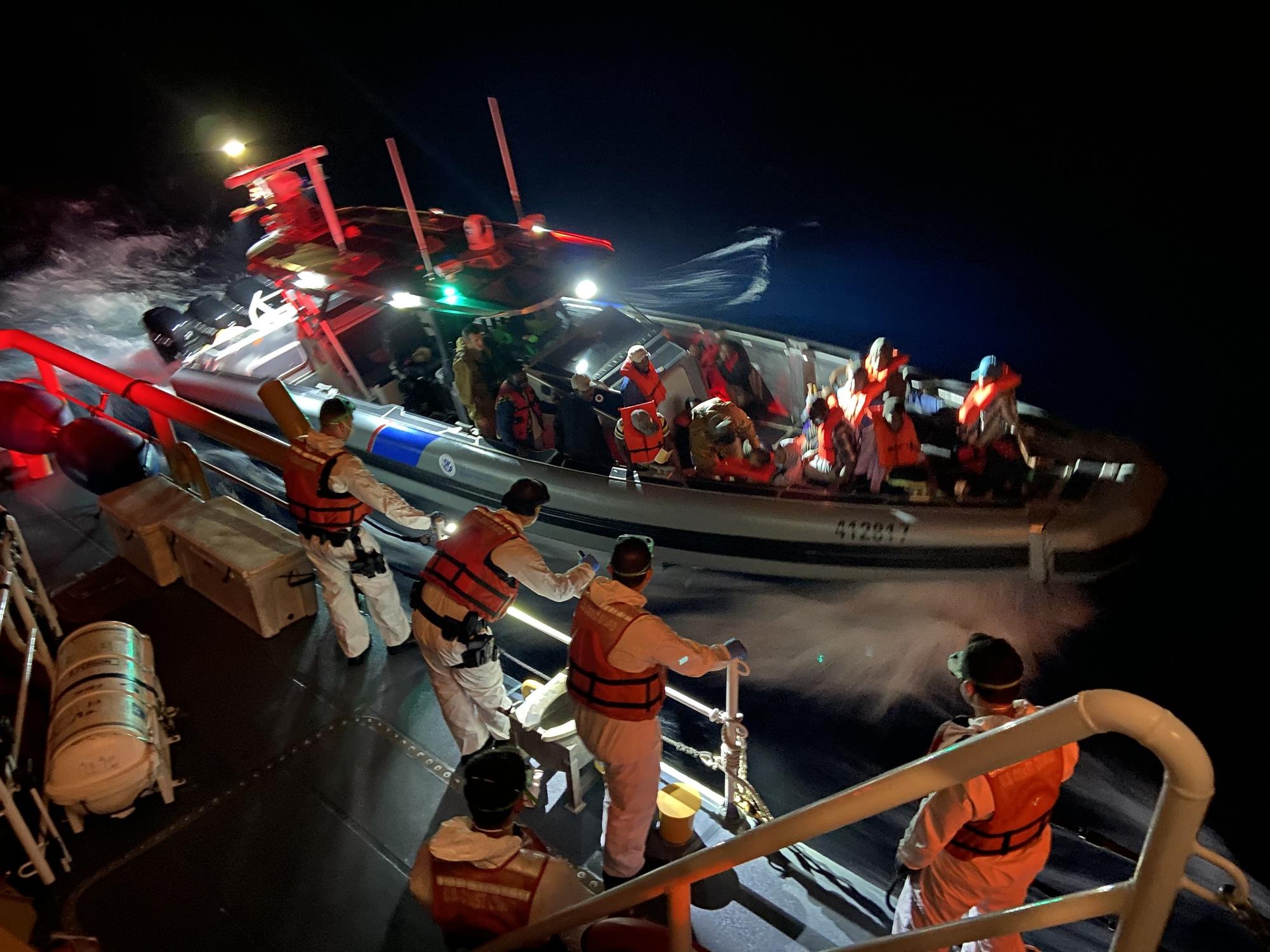 PHOTOS AVAILABLE: Coast Guard repatriates 74 migrants from 3 interdictions to Cuba