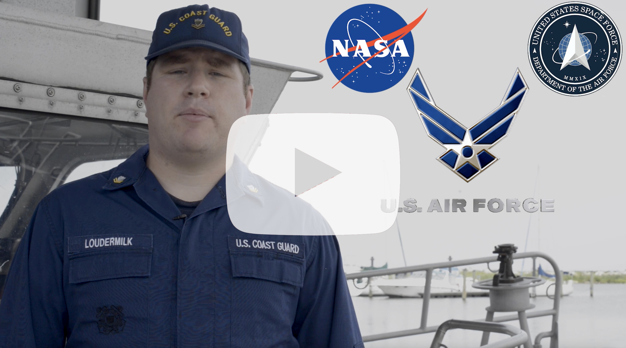 Petty Officer 2nd Class Lee Loudermilk, a boatswain's mate with Coast Guard Station New Orleans, reminds mariners to stay back from maritime recovery sites during NASA's SpaceX Crew-1 mission recovery operations of spacecraft and astronauts with an anticipated splashdown in the Gulf of Mexico off the coast of Florida.