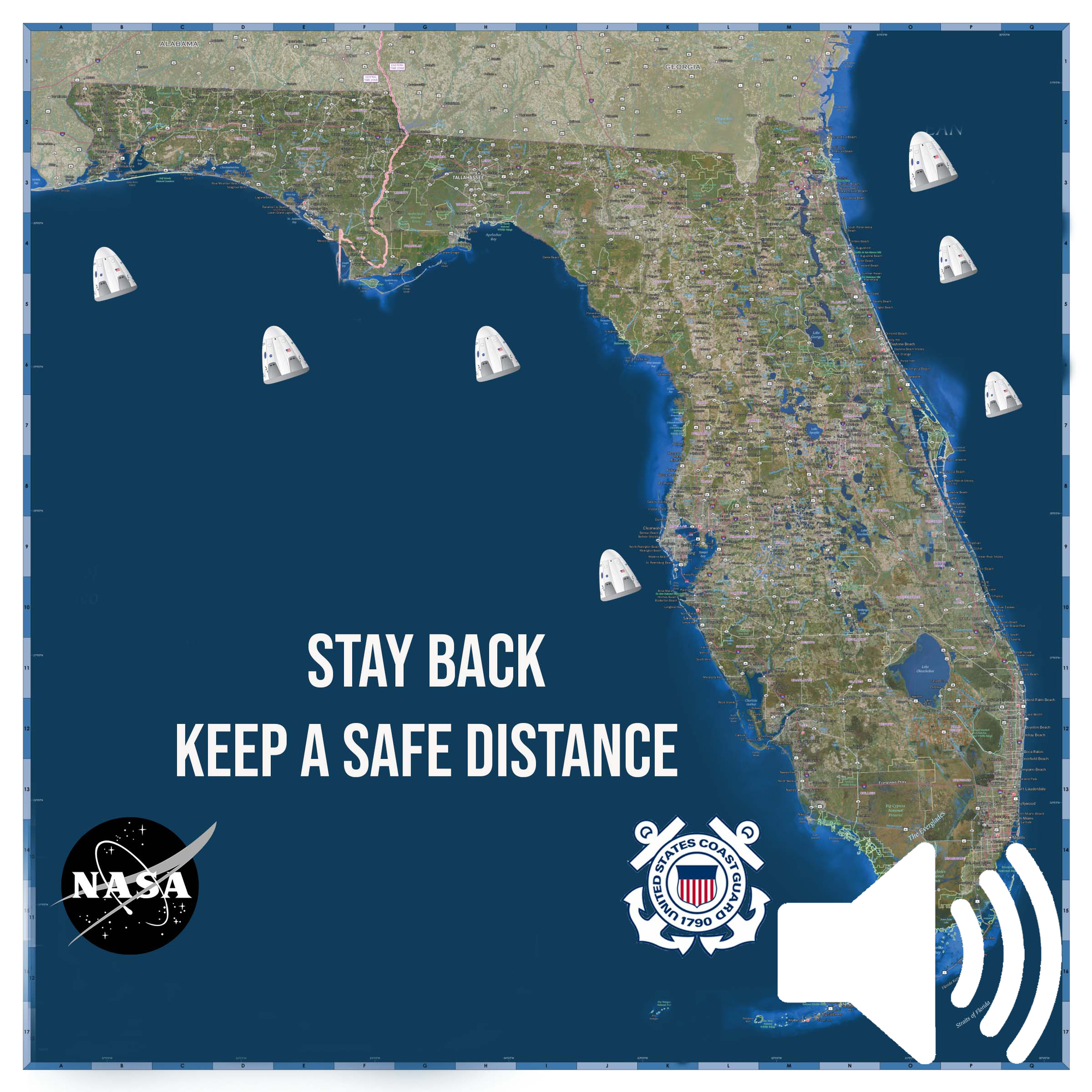 The Coast Guard reminds mariners to stay back from maritime recovery sites during recovery operations of spacecraft and astronauts. NASA's SpaceX Crew-1 mission is currently targeting a return to Earth Saturday morning with an anticipated splashdown in the Gulf of Mexico off the coast of Florida. All boaters should tune into Broadcast Notices to Mariners on a VHF FM-Channel 16 marine radio and check the Local Notices to Mariners for updates.