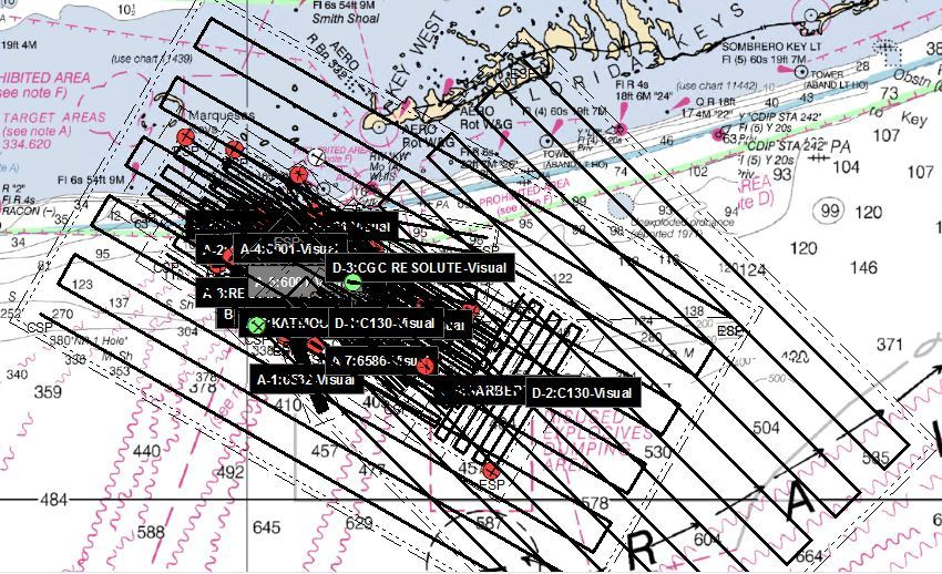 Key West search area