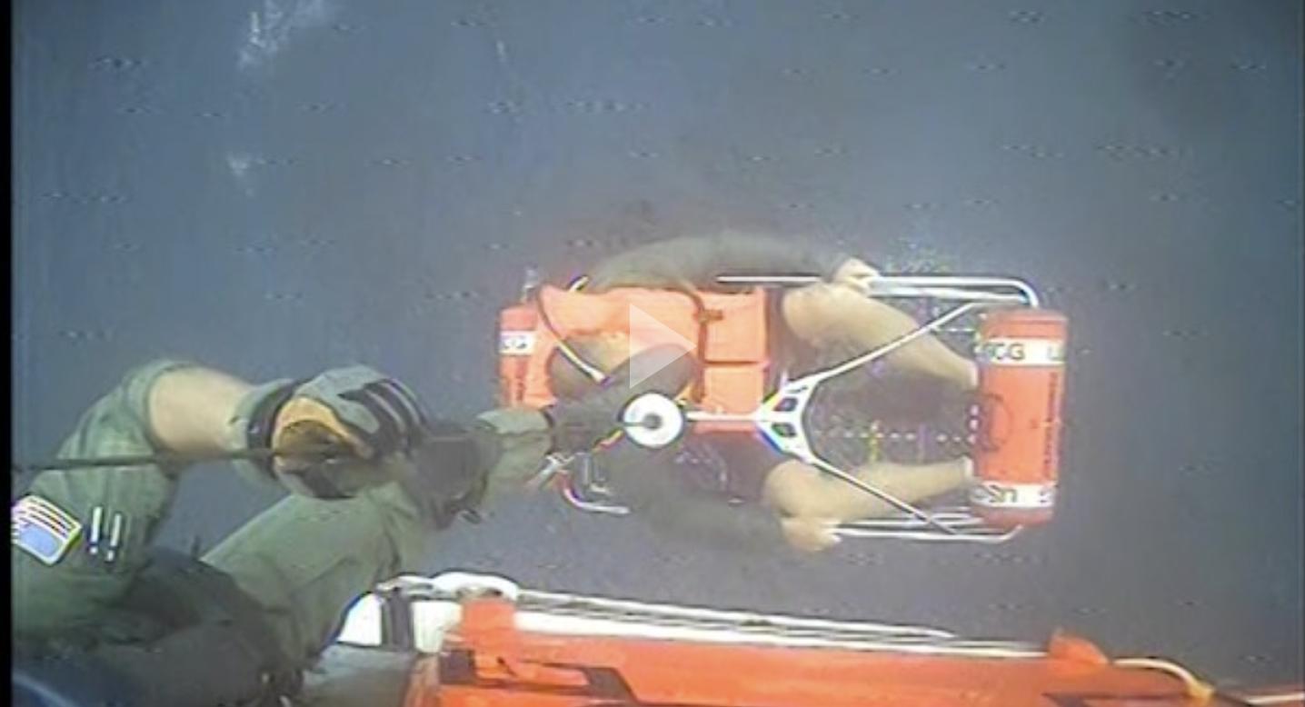 Coast Guard, good Samaritan rescue 6 from a vessel taking on water near Atlantic City, New Jersey