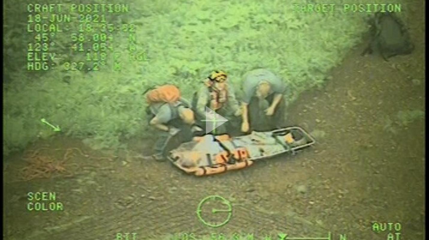 Coast Guard rescues injured hiker near Saddle Mountain