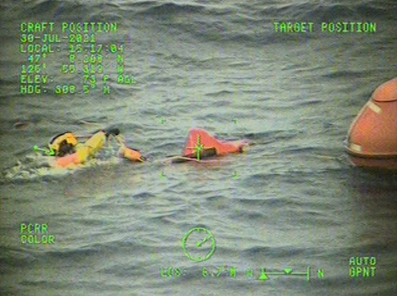 Rescue Swimmer and Life Raft