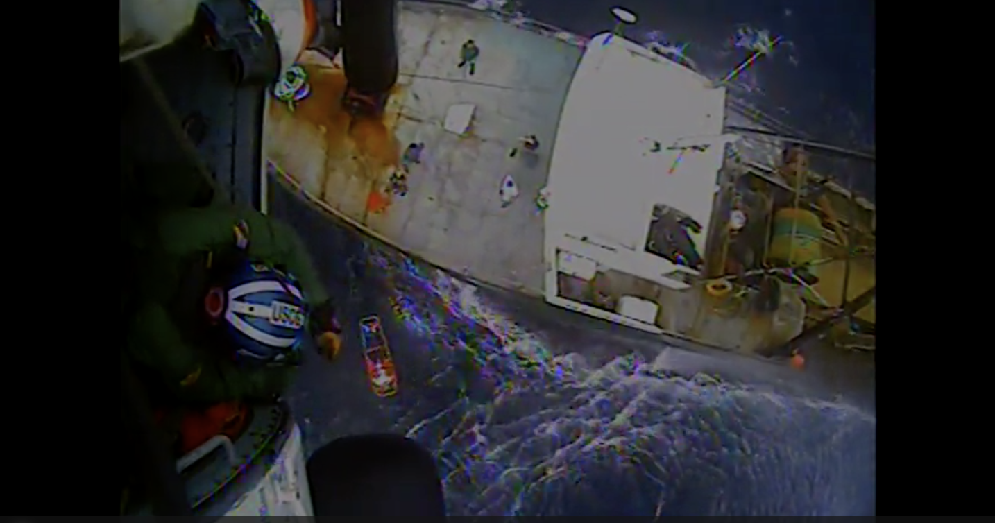 Coast Guard medevacs fisherman 65 miles east of Virginia Beach