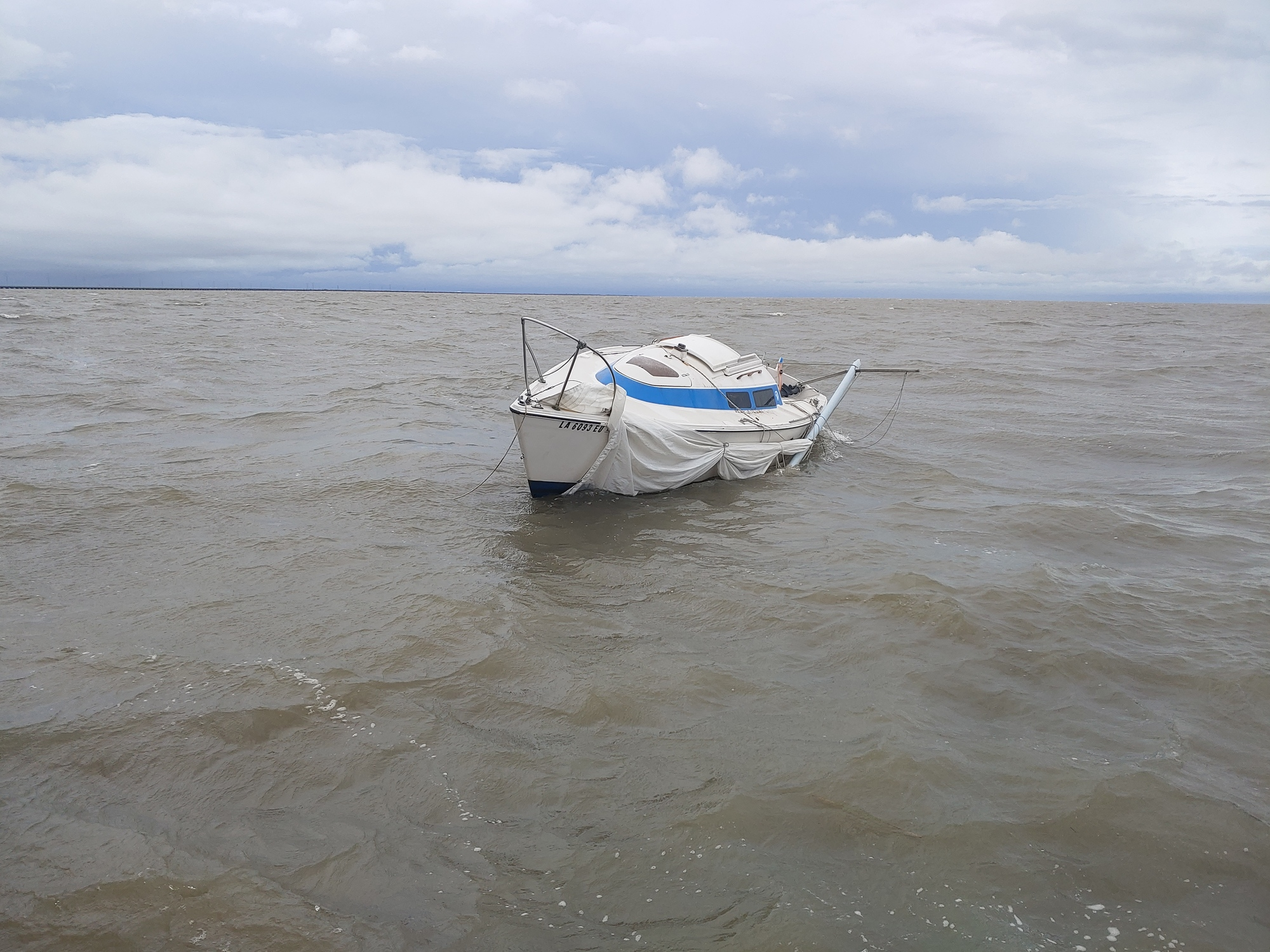 Disabled Sailing Vessel