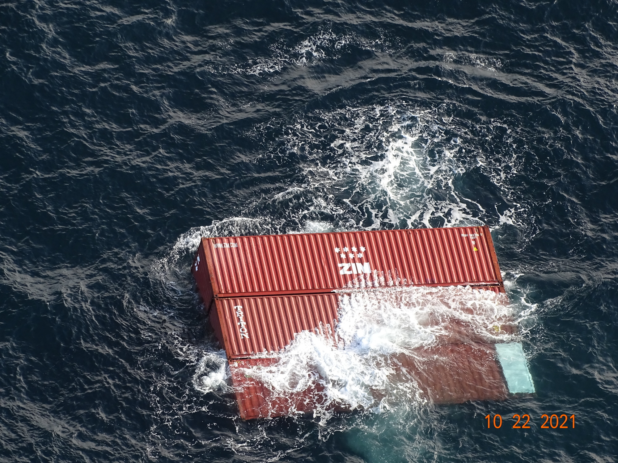 U.S., Canadian Coast Guard responds to container ship losing 40 containers in Strait of Juan de Fuca
