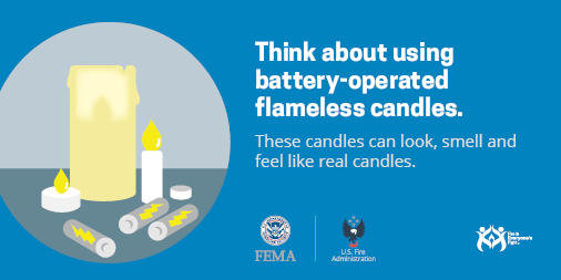 think about using flameless candles