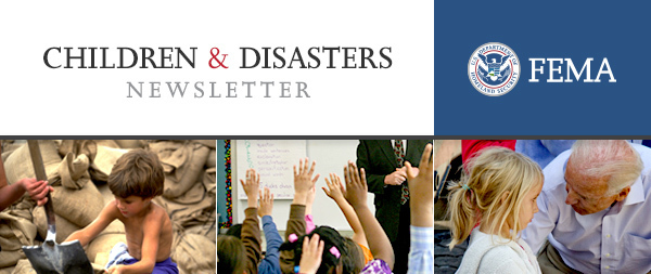 Children and Disasters newsletter header