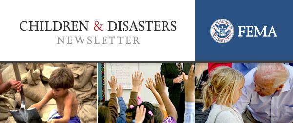 Children and Disasters newsletter header
