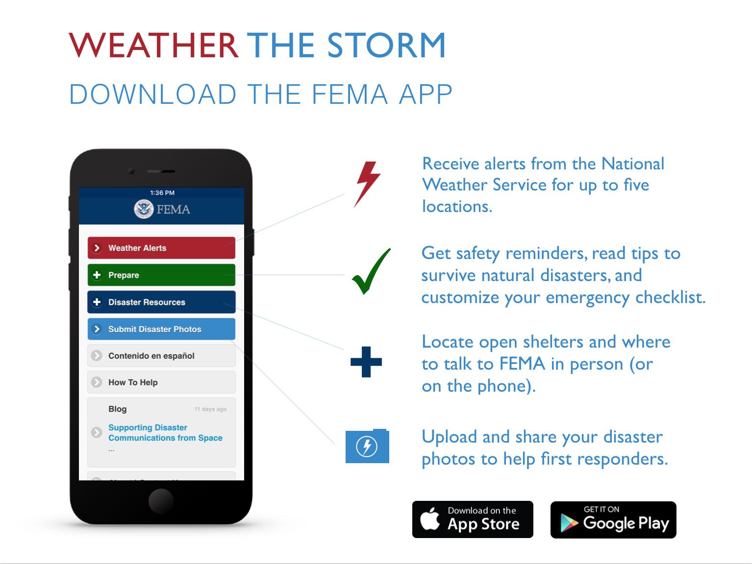FEMA App Infographic