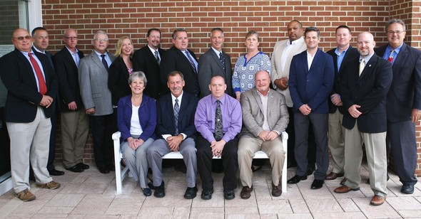 Photo shows the 18 graduates of the National Emergency Management Advance Academy