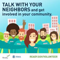 Volunteer in Your Community Graphic