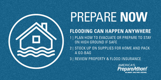 Prepare Now. Flooding Can Happen Anywhere.