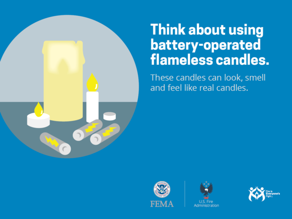 Safety tip: flameless candles image.