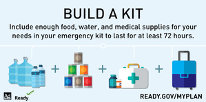 Build an Emergency Kit Graphic