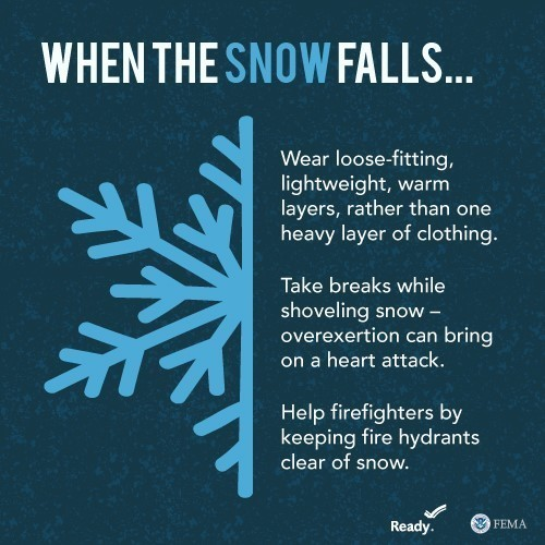 When the snow falls graphic
