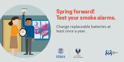 Change your smoke alarm batteries