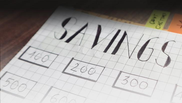 Handwritten savings tracker