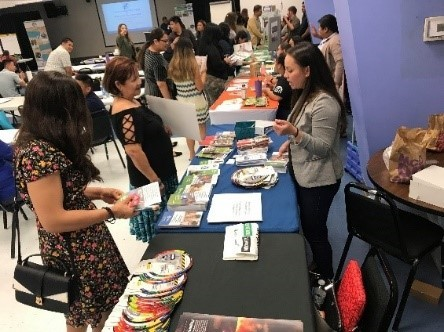 YPC member tables an event to talk about preparedness