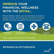 Graphic encouraging you to improve your financial wellness with the EFFAK