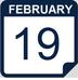 Feb 19 calendar icon