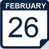 February 26 calendar icon