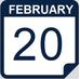 February 20 calendar icon