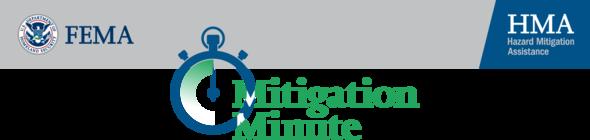 Mitigation Minute for August 26, 2020. Header.