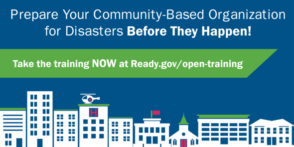 Community Based Organization Disaster Training graphic