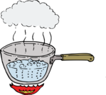 boiling water
