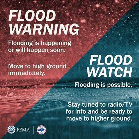 FEMA Flood Warning/Flood Watch