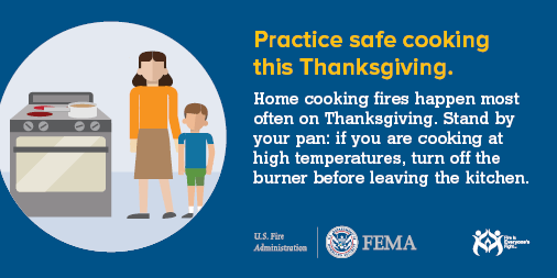 Thanksgiving safety tip graphic