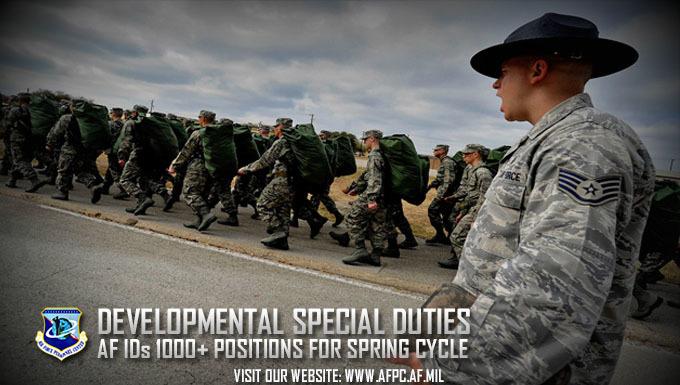 April 6, 2017: Developmental special duties broaden experience