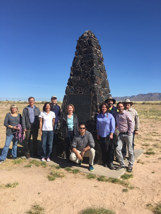 In December 2017, staff from DOE, LM, and the National Park Service visited the Trinity Test site on White Sands Missile Range.