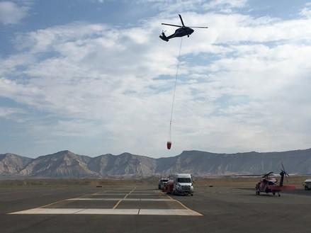 Pine Gulch Fire Incident Command team