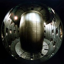 Photo of the inside of a tokamak
