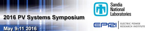 Sandia EPRI 2016 PV Systems Symposium banner