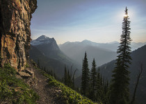 endless mountain vistas from a hiking trail