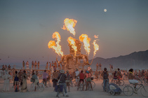 View of Burning Man in the High Rock Canyon Wilderness Area, within the Black Rock Desert High Rock Canyon Emigrant Trails. Photo by Bob Wick, BLM.