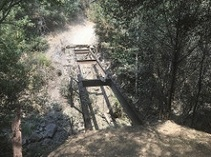 California trail bridge burn RiverFire-2018