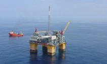 Offshore oil and gas platform in the gulf of Mexico. Photo by Bureau of Ocean Energy Management