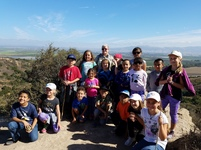 Kids go on hike and get their picture taken